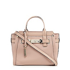 J by Jasper Conran - Light pink front lock detail tote bag