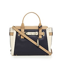 J by Jasper Conran - Navy front lock detail winged tote bag