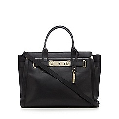 J by Jasper Conran - Black leather front lock shoulder bag