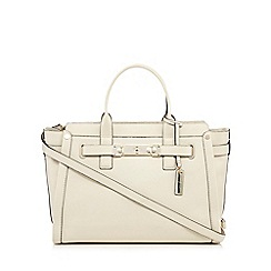 J by Jasper Conran - Cream leather front lock shoulder bag