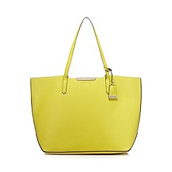 J by Jasper Conran - Lime contrasting detail shopper bag