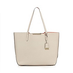 J by Jasper Conran - Grey contrasting detail shopper bag