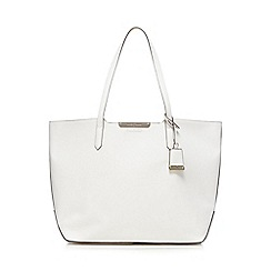 J by Jasper Conran - White contrasting detail shopper bag