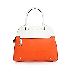 J by Jasper Conran - Orange colour block three compartment dome bag