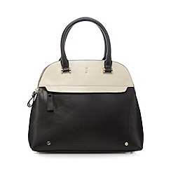 J by Jasper Conran - Black colour block three compartment dome bag