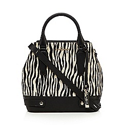 J by Jasper Conran - Black zebra print grab bag