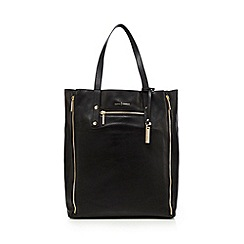 J by Jasper Conran - Black zip shopper bag