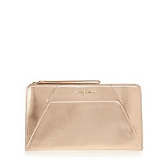 J by Jasper Conran - Rose gold metallic clutch bag