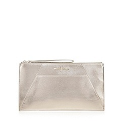 J by Jasper Conran - Silver metallic clutch bag