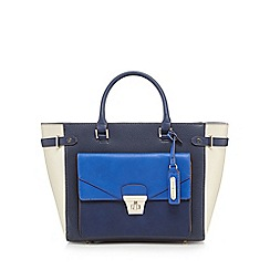 J by Jasper Conran - Navy envelope front pocket tote bag