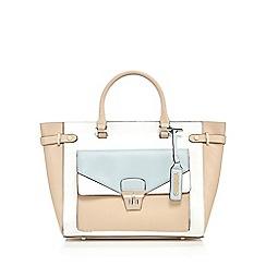 J by Jasper Conran - White envelope front pocket tote bag