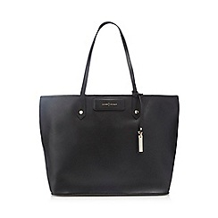J by Jasper Conran - Black leather shopper bag