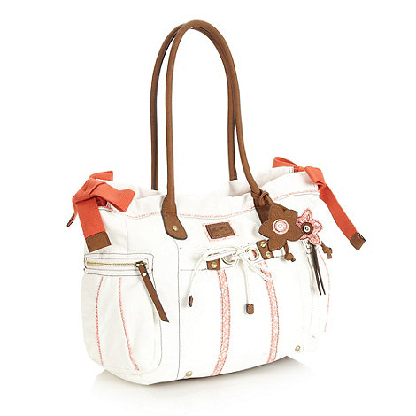 Mantaray - White triple bow tote bag