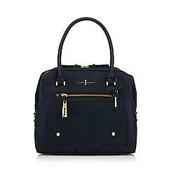 J by Jasper Conran - Navy zip detail bowler bag
