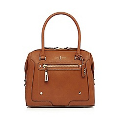 J by Jasper Conran - Tan logo bowler bag