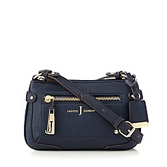 J by Jasper Conran - Navy zip cross body bag