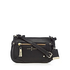 J by Jasper Conran - Black zip detail cross body bag
