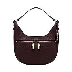 J by Jasper Conran - Dark red double pocket shoulder bag