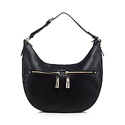 J by Jasper Conran - Black double pocket shoulder bag