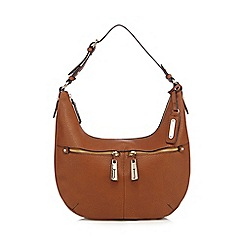 J by Jasper Conran - Tan double pocket shoulder bag