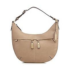 J by Jasper Conran - Taupe double pocket shoulder bag