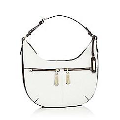J by Jasper Conran - White and brown double pocket shoulder bag