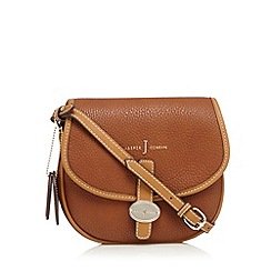J by Jasper Conran - Tan logo plate saddle bag