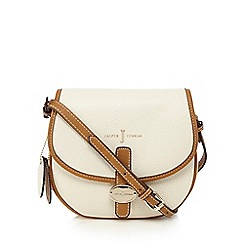 J by Jasper Conran - Cream logo plate saddle bag