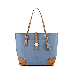 J by Jasper Conran - Light blue colour block shopper bag