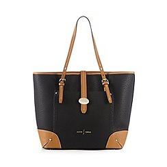 J by Jasper Conran - Black colour block shopper bag