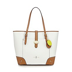 J by Jasper Conran - White colour block shopper bag