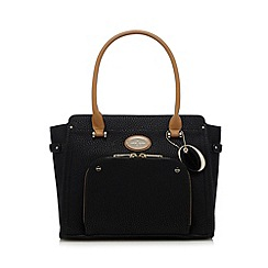 J by Jasper Conran - Black zip front tote bag