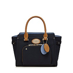 J by Jasper Conran - Navy front zip pocket grab bag