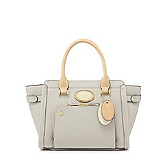 J by Jasper Conran - Grey front zip pocket grab bag