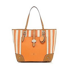 J by Jasper Conran - Orange striped canvas shopper bag