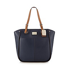 J by Jasper Conran - Navy enamel plate shoulder bag