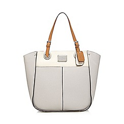 J by Jasper Conran - Grey enamel plate shoulder bag
