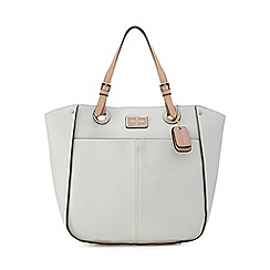 J by Jasper Conran - White double pocket shopper bag