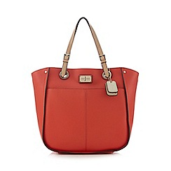 J by Jasper Conran - Coral double pocket shopper bag