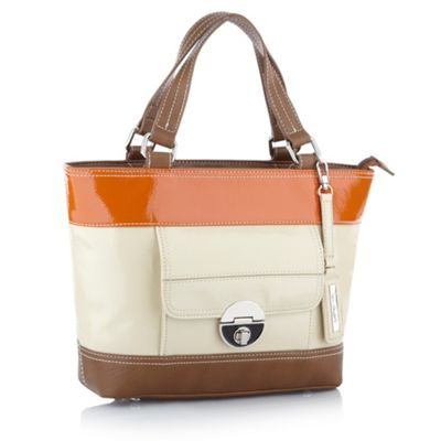 Natural Colour Block Patent Grab Bag