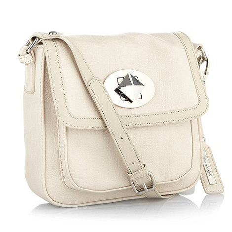 Principles by Ben de Lisi - Cream twist lock cross body bag