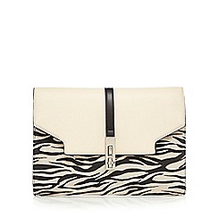 Star by Julien Macdonald - Cream zebra print clutch bag