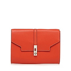 Star by Julien Macdonald - Orange twist and lock clutch bag