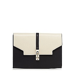 Star by Julien Macdonald - Black twist and lock clutch bag