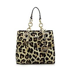 Star by Julien Macdonald - Black leopard print small grab bag