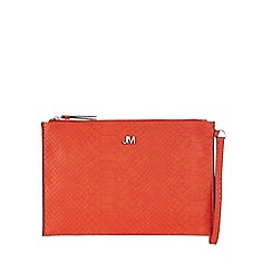 Star by Julien Macdonald - Orange reptile textured clutch bag