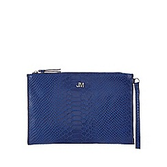 Star by Julien Macdonald - Blue reptile textured clutch bag