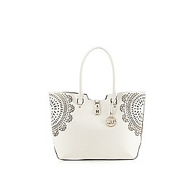 Star by Julien Macdonald - White flower cut-out shopper bag
