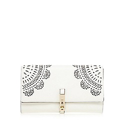 Star by Julien Macdonald - White floral cut-out clutch bag