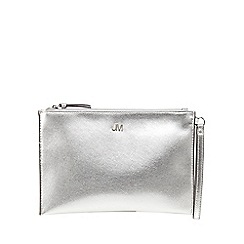 Star by Julien Macdonald - Silver metallic textured clutch bag